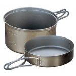 Evernew Titanium Non-Stick DX Pot + Non-Stick Fry Pan